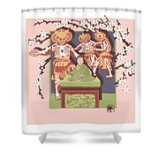 Dance Of The Skeleton Lords Shower Curtain