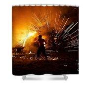 Dance On Fire Shower Curtain