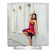 Dance On The Wall Shower Curtain