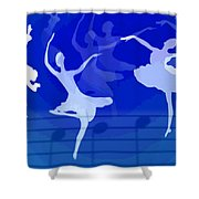 Dance The Blues Away Shower Curtain