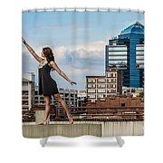 Dance The Durham Skyline Shower Curtain by Jh Photos