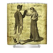 Dance The Minuet With Me Shower Curtain
