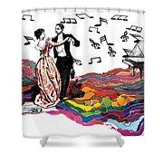 Dance Till The End Of Time Shower Curtain