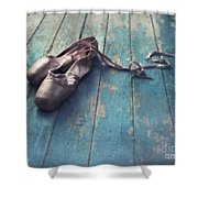 Danced Shower Curtain by Priska Wettstein