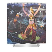 Dancer Laxmi Dancing On The Boat Shower Curtain