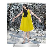 Dancer In The Snow Shower Curtain