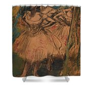 Dancer In The Wing Shower Curtain by Edgar Degas