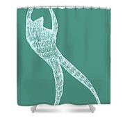 Dancer Shower Curtain by Michelle Calkins