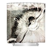 Dancer With A Bouquest Of Flowers By Edgard Degas Shower Curtain