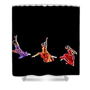 Dancers In Flight Shower Curtain