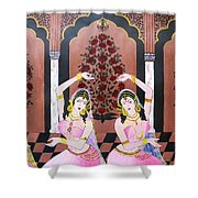 Dancers In Mughal Court Shower Curtain