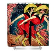 Dancers In Red Shower Curtain