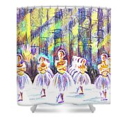 Dancers In The Forest Shower Curtain by Kip DeVore