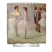 Dancers In The Wings At The Opera Shower Curtain by Jean Louis Forain