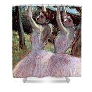 Dancers In Violet Dresses Shower Curtain