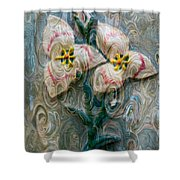 Dances With Flowers Shower Curtain
