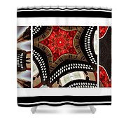 Dancing A Jig - Accordion - Pentaptych Shower Curtain