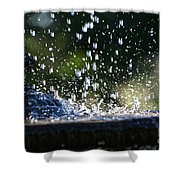 Dancing Droplets Shower Curtain