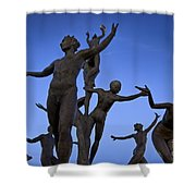 Dancing Figures Shower Curtain by Brian Jannsen