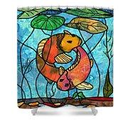 Dancing Fish Shower Curtain