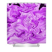 Dancing Flames-purple Shower Curtain