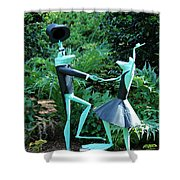 Dancing Frogs Shower Curtain