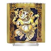 Dancing Ganesh Shower Curtain