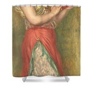 Dancing Girl With Tambourine Shower Curtain