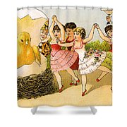 Dancing Girls Shower Curtain