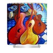 Dancing Guitars Shower Curtain
