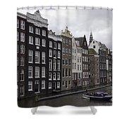 Dancing Houses Damrak Canal Amsterdam Shower Curtain