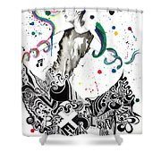 Dancing In Berlin Shower Curtain by Oddball Art Co by Lizzy Love