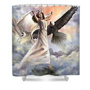 Dancing In Glory Shower Curtain by Tamer and Cindy Elsharouni