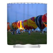 Dancing In The Moonlight Hot Air Balloons Shower Curtain