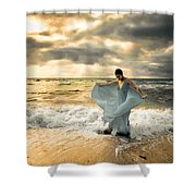 Dancing In The Surf Shower Curtain