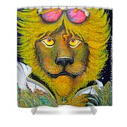 Dancing King Of The Serengeti Discotheque Shower Curtain