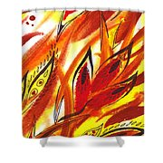 Dancing Lines Hot Abstract Shower Curtain