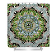 Dancing Mandevilla Blossom Kaleidoscope Shower Curtain