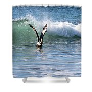 Dancing On The Waves Shower Curtain