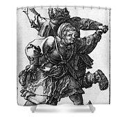 Dancing Peasants 1514 - Albrecht Durer Shower Curtain