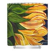 Dancing Sunflower Shower Curtain
