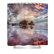 Dancing Sunset Shower Curtain