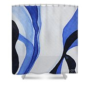 Dancing The Blues Shower Curtain