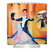 Dancing Through Time Shower Curtain