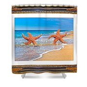 Dancing To The Beat Of The Sea Shower Curtain