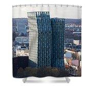 Dancing Towers Hamburg Shower Curtain