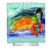 Dancing Tree Of Life Shower Curtain