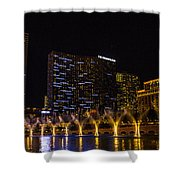 Dancing Waters Rear Shot Shower Curtain