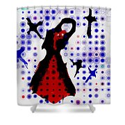 Dancing With The Birds Shower Curtain