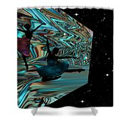 Dancing With The Stars-featured In Harmony And Happiness Group Shower Curtain
